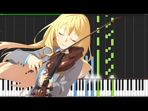 Friend A - Shigatsu wa Kimi no Uso [Piano Tutorial] (Synthesia) // Chewie Melodies