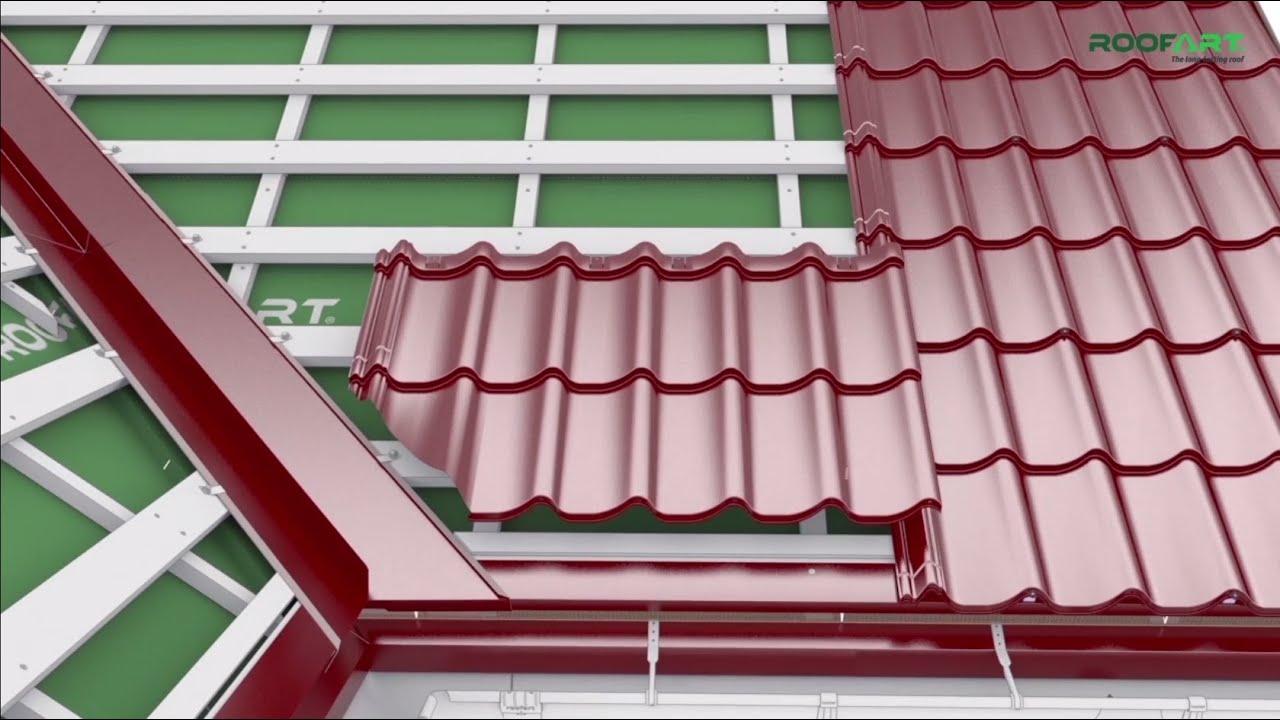 Cum se monteaza tigla metalica si accesoriile pe un acoperis complex – Umbrella® dublu-modulara
