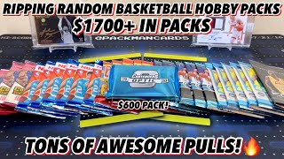 *OPENING $1700+ IN PACKS! TONS OF AWESOME PULLS!🔥* RANDOM BASKETBALL SPORTS CARD HOBBY PACK OPENING