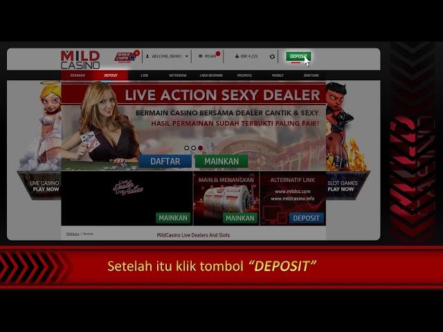 Tutorial Cara Deposit Mildcasino