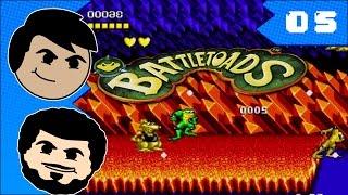 Battletoads Co-op | #05 | Turbo Inferno! - losfrikeros