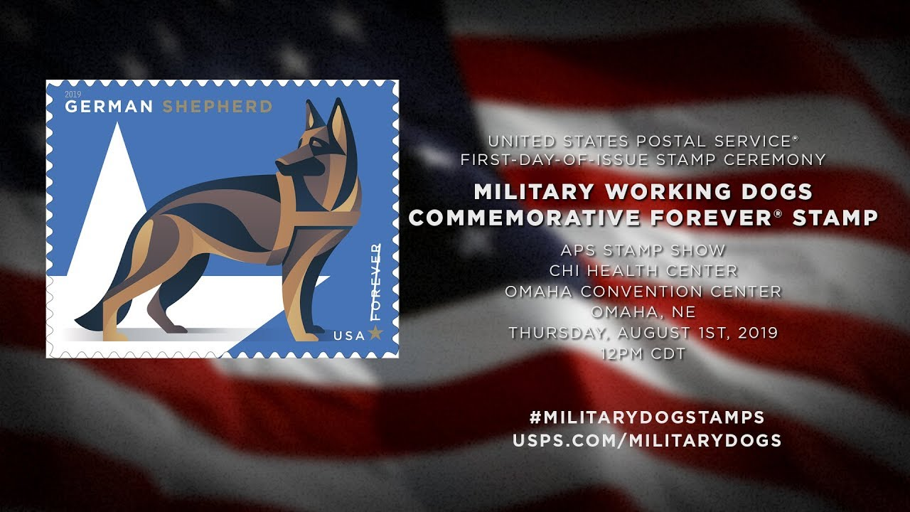 USPS Releases Stamps Honoring Military Working Dogs