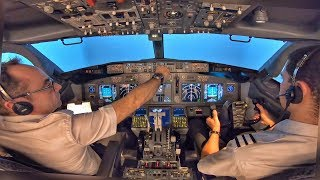 Boeing 737-800 ILS Approach & GO AROUND at Dublin | MCC Training at Simtech | Cockpit View