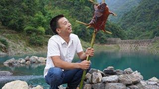 华农兄弟:抓6只竹鼠去王刚跟山药家玩,尝一下他们烤竹鼠的厨艺