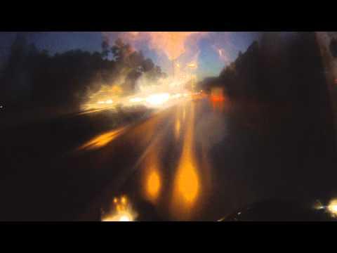 В дождь на мотоцикле