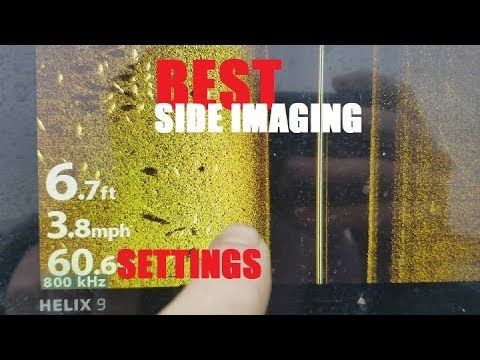 Humminbird SIDE Imaging BEST Tutorial - HELIX Settings Explained On And Off The Water