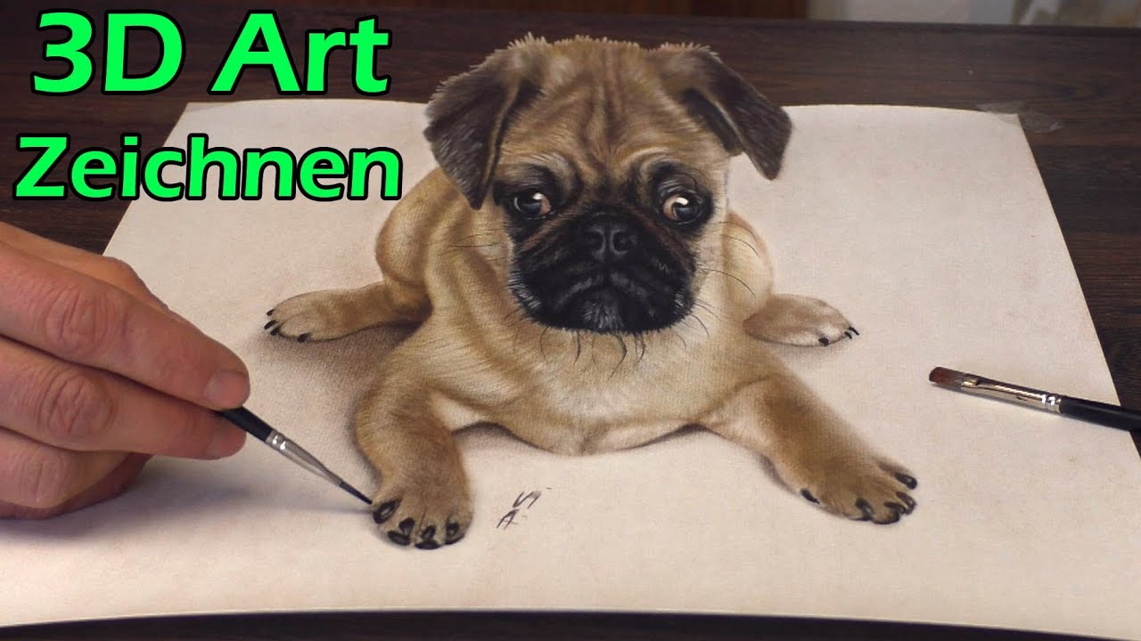 Portraitmaler Pabst Greenbone Gemalt In 3d Trick Art Facebook