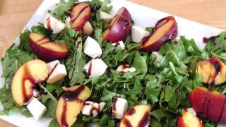 Grilled Peach And Smoked Mozzarella Salad - Laura Vitale - Laura In The Kitchen Ep 171