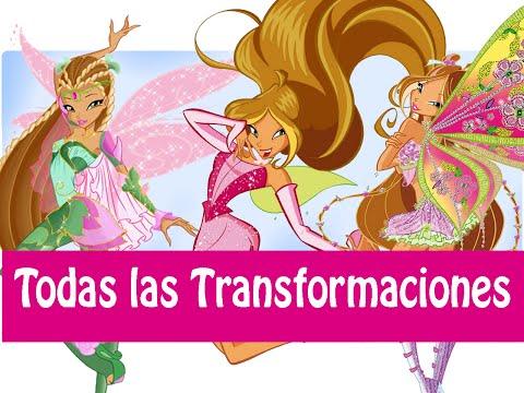 Winx Club - Todas Las Transformaciónes de Flora! Español Latino