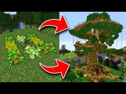 How To Get TREEHOUSE SAPLINGS In Minecraft! *SECRET WAY!*