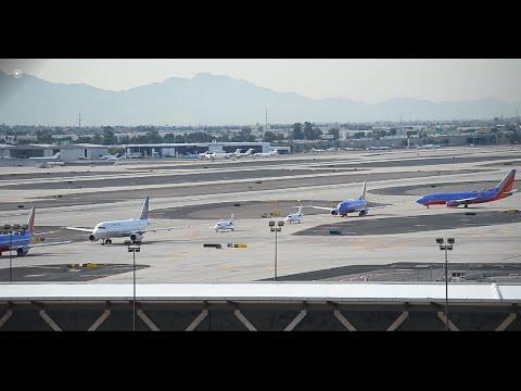 HUGE Traffic Jam at Phoenix Sky Harbor International Airport!!