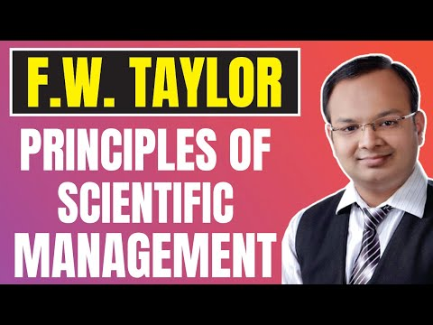 F.W. Taylor Principles Of Scientific Management |#3| Principles Of Management