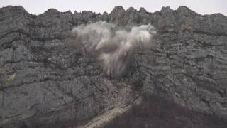 Isère : un bout de falaise dynamitée pour sauver un hameau