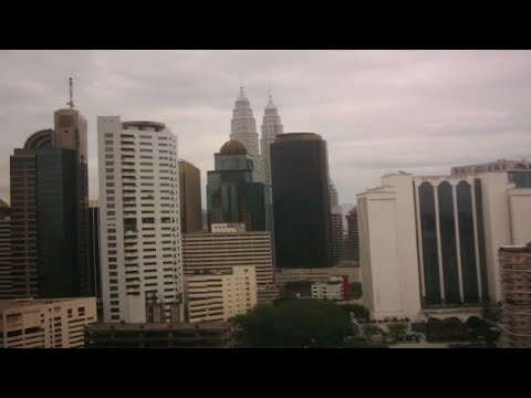 Kuala Lumpur view from Radius International hotel 2004 with photos