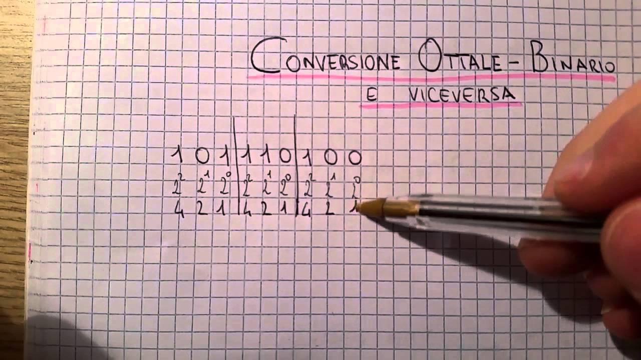 Binario decimale ottale conversione esadecimale pdf