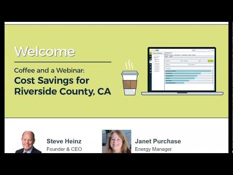 EnergyCAP Coffee and a Webinar: Cost Savings for Riverside County, CA