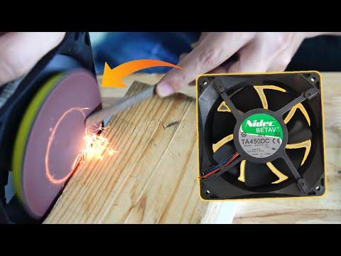 DIY 12v DC Fan... Disc Sander !!
