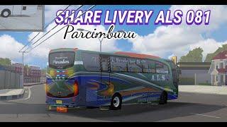 Download lagu SHARE LIVERY ALS 081 PARCIMBURU MOD BUSSID JB2HD ALDOVADEWA!