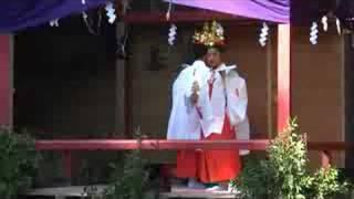 「月日の巫女」@鶴峯八幡神社十二座神楽