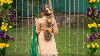Latest Hairstyle For Mahndi Bride | beautiful Braid | Braid Hairstyle