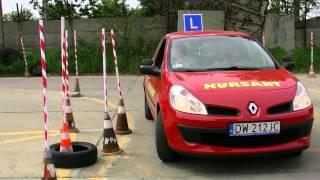Łuk na egzaminie kategoria B prawa jazd...