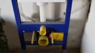 Hangend toilet maken