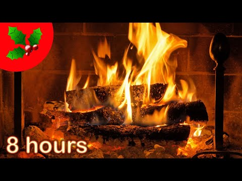 ✰-8-hours-✰-christmas-fireplace-✰-acoustic-guitar-♫-☆-christmas-music-instrumental-♫-yule-log