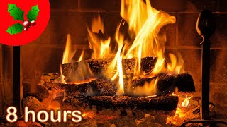 ✰ 8 HOURS ✰ Christmas FIREPLACE ✰ ACOUSTIC GUITAR ♫ ☆ Christmas Music Instrumental ♫ YULE LOG