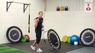 Instructions for attaching resistance bands to all Maximus Pro Rebounder models.