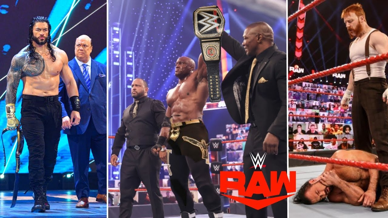 WWE Monday Night Raw 1st March 2021 Highlights Results, Bobby Lashley is WWE Champion | Roman reigns