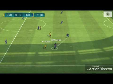 Leo Messi assist & solo run goal PES 17...