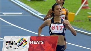 Athletics Women's 100m Semi - Final 1 | 29th SEA Games 2017