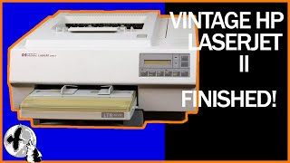 Finishing Vintage HP LaserJet II Computer Printer Repair