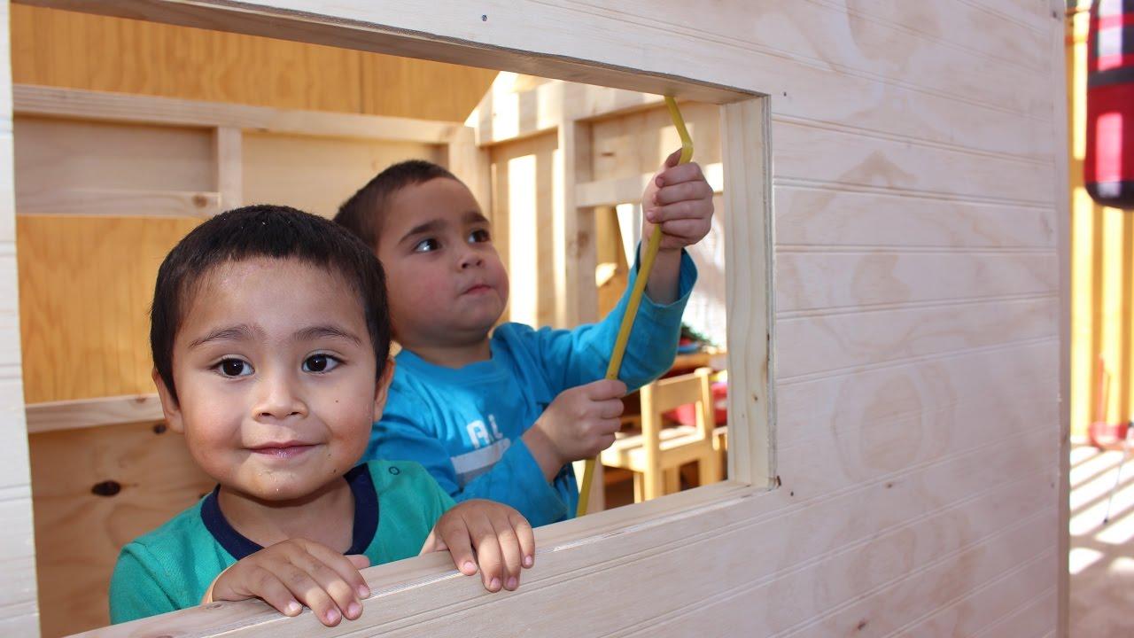 Como construir una casa de madera para ni os parte 1 - Como construir una casa para ninos ...