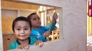 Como construir una casa de madera para niños - Parte 1