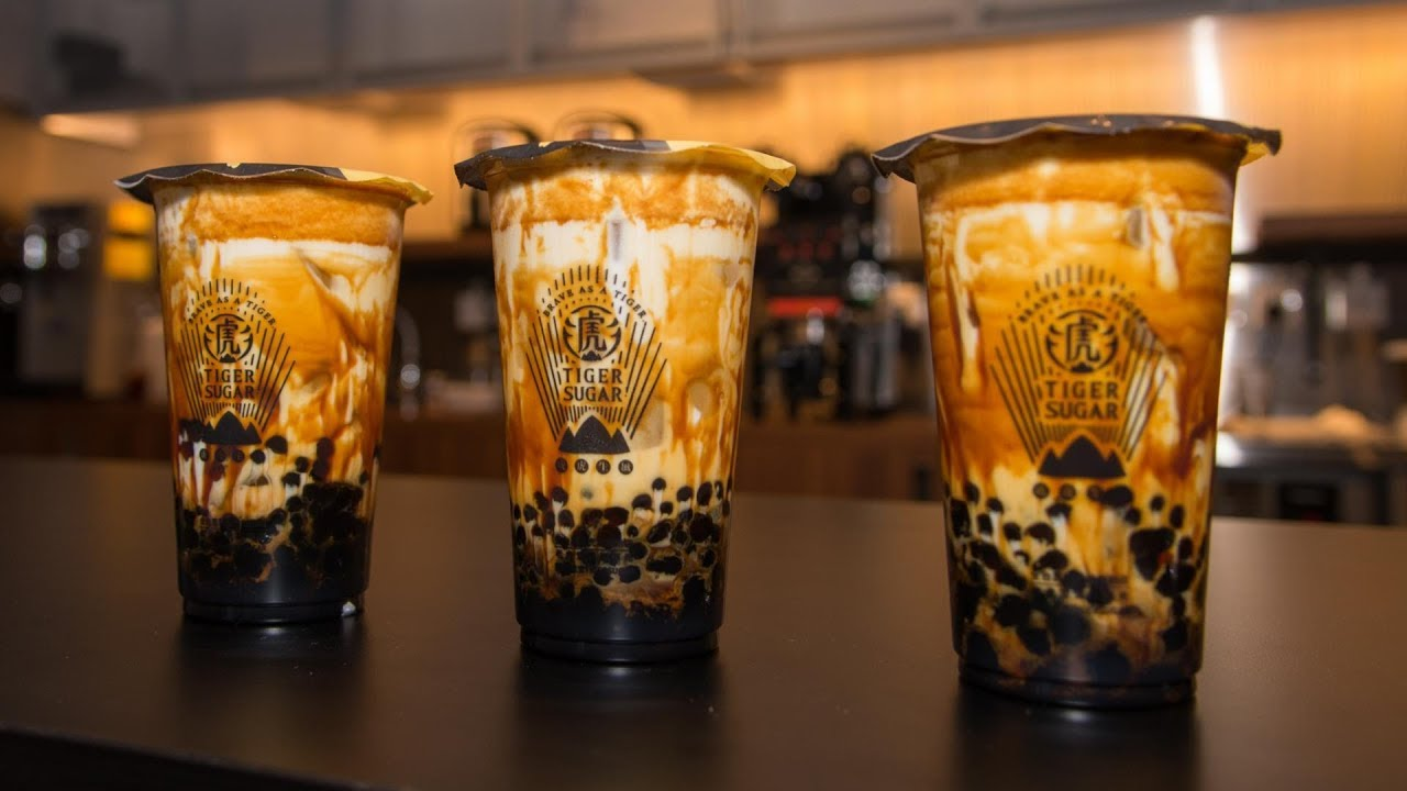 Taiwan's Tiger Sugar, popular for its brown sugar boba fresh