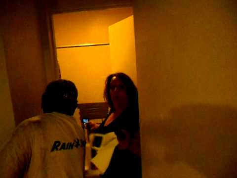 Slum lordess threatening resident's guest