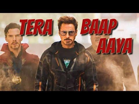 Download   Tera Baap Aaya    iron man Powerfull WhatsApp status 🔥😎✓❤️❤️