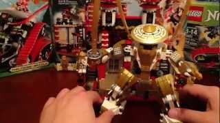 Lego 2013 Ninjago Temple of Light Part 2 Review Set # 70505 Golden Ninja