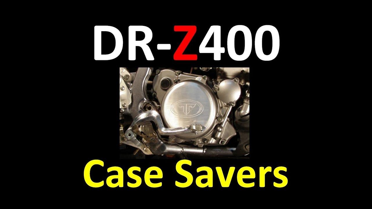 suzuki dr-z400 series shift lever & case saver modifications