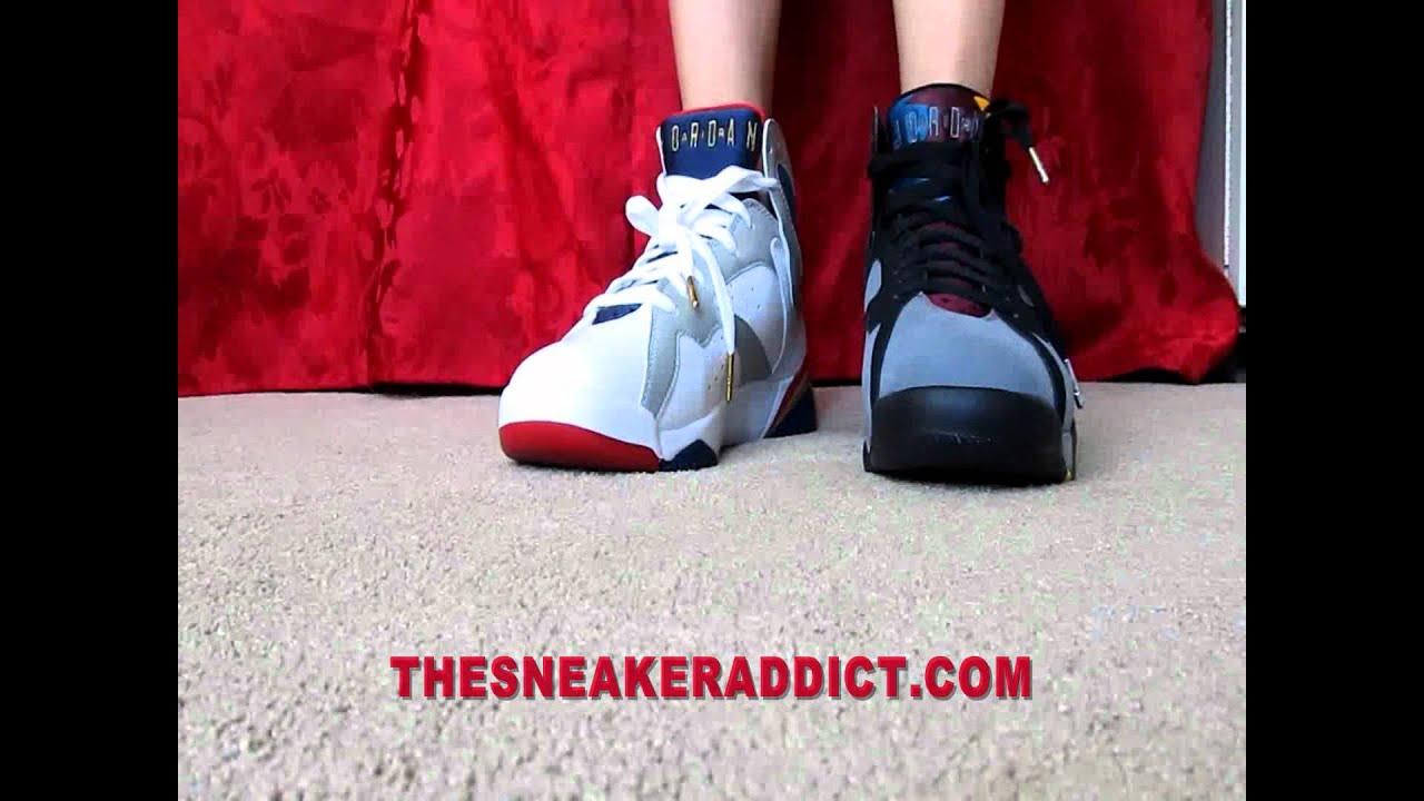 888aa3eafd2f60 Air Jordan Olympic 7 s or Bordeaux VII s   Djdelz  PickOne - YouTube