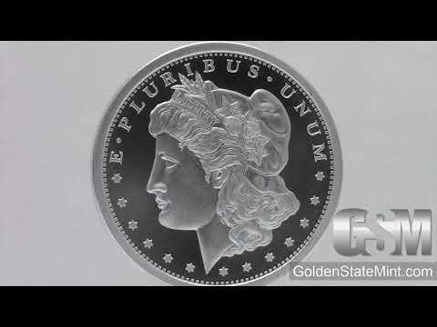 1 Oz Morgan Silver Dollar Golden State Mint .999 Fine Silver Bullion