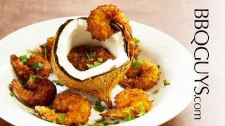 Fried Coconut Shrimp With Chipotle Adobo Dipping Sauce Recipe - Bbqguys.com