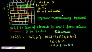 Programming Interview: Maximum Sub-Matrix Sum (Dynamic Programming)