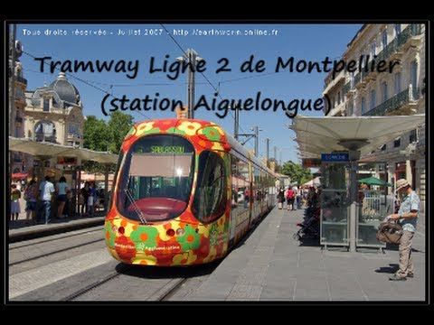 ligne 2 du tramway de montpellier station aiguelongue. Black Bedroom Furniture Sets. Home Design Ideas