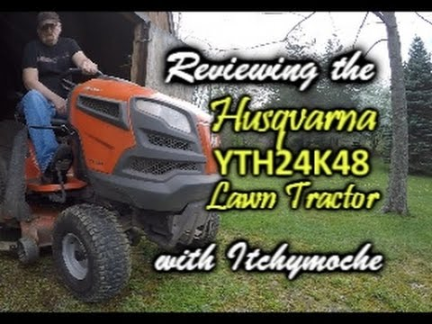 Husqvarna YTH24K48 Lawn Tractor Review - YouTube