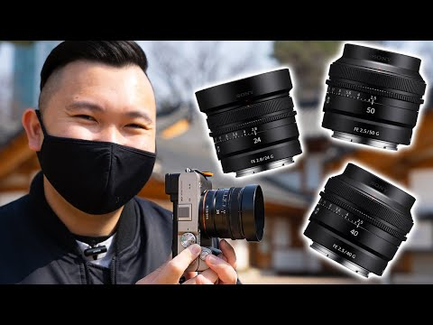 I LOVE These TINY Sony Lenses For My SEOUL Travel Photography! 24 40 50mm F2.5 for a7C a7 III a7S