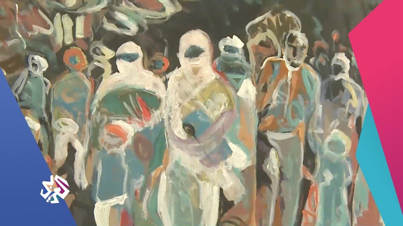 قناة العربي:شبابيك | أعمال فنية توثق حجم الدمار في مدينة الموصل في معرض يجوب العالم
