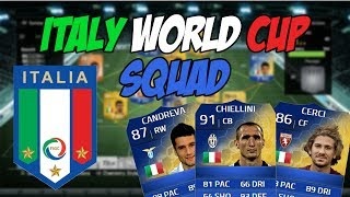 ITALY WORLD CUP SQUAD W/ TOTS PLAYERS!
