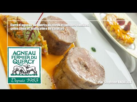 Recette : Carré agneau farci citron et tomates confites par Stéphane ANDRIEUX